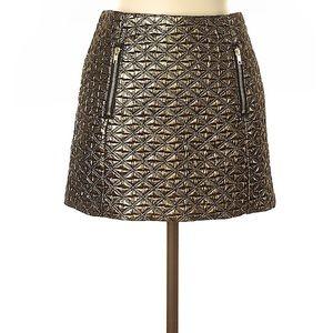 EUC topshop metallic gold mini skirt